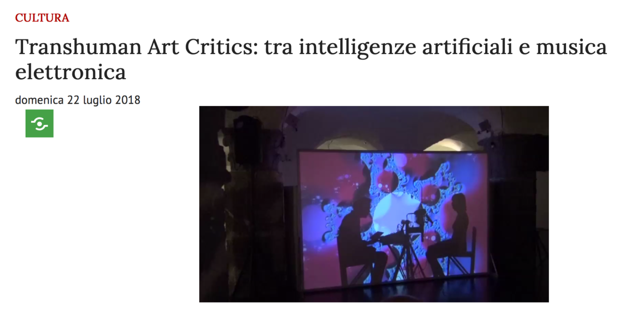 TRANSHUMAN ART CRITICS PRESS